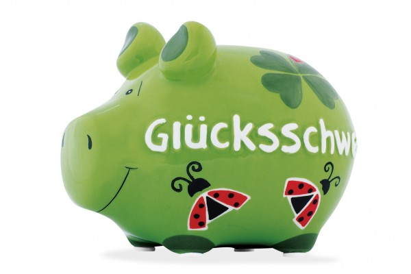 Lustiges Sparschwein - Glücksschwein - Sparschwein von Kawlath's Coole Geschenke