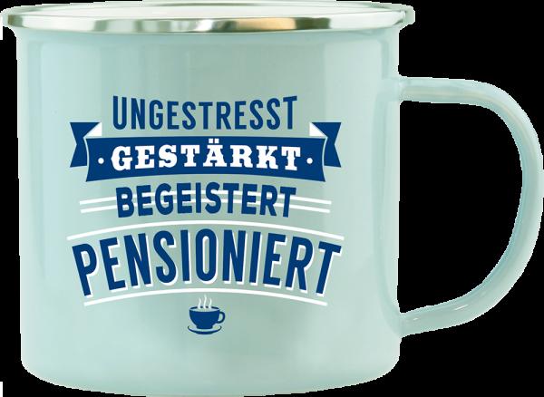 History & Heraldry Echte Kerle Im Ruhestand Emaille Becher Kaffeebecher Kaffeepott