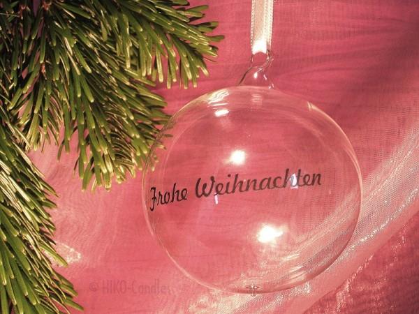 Persönliche Weihnachtskugel schlicht - Mundgeblasene Glaskugel - mit Beschriftung