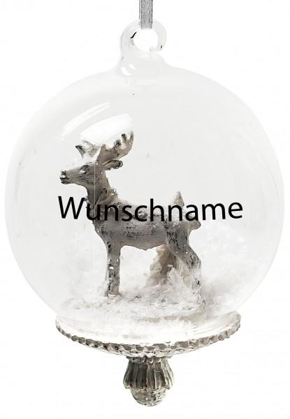 Persönliche Weihnachtskugel - Mit individueller Beschriftung-Hirsch