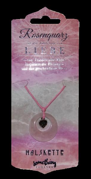 Edelstein-Geschenke Halskette, Heilstein, Rosenquarz