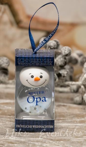 H&H History Heraldry Schneekugel, personalisiert, für die Weihnachtszeit Bester Opa bei HIKO Eventdeko
