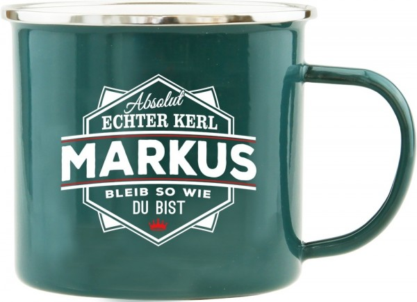 History & Heraldry Echte Kerle Becher Markus Emaille Becher Kaffeebecher Kaffeepott