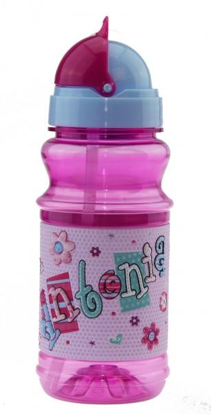 Trinkflasche mit Namen für Kinder  Antonia