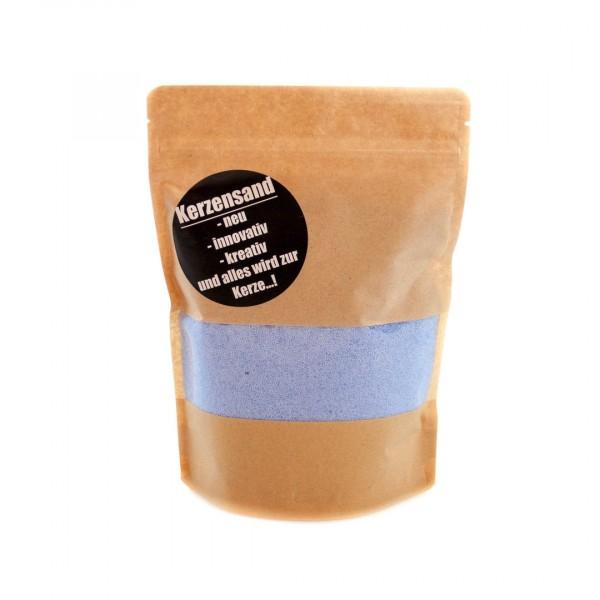 KERZENSAND hellblau (inkl. 2 Dochte á 20cm) - Palmwachs Wachsgranulat 400g