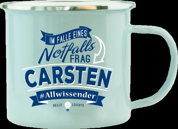 History & Heraldry Echte Kerle Carsten Emaille Becher Kaffeebecher Kaffeepott