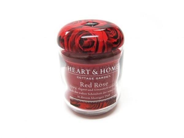 Heart & Home Duftkerze klein Red Rose