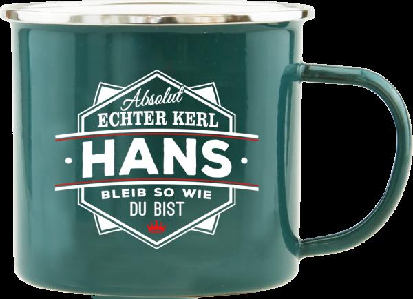 History & Heraldry Echte Kerle Becher Hans Emaille Becher Kaffeebecher Kaffeepott