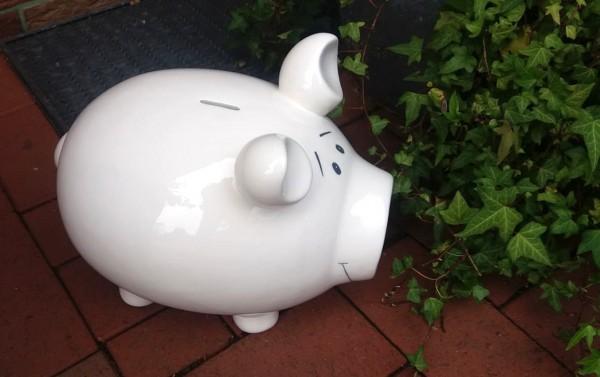 Porzellanschwein, Monsterschwein, Hochzeit, Hochzeitsgeldgeschenk, Geldgeschenk, Schwein, Riesenschw
