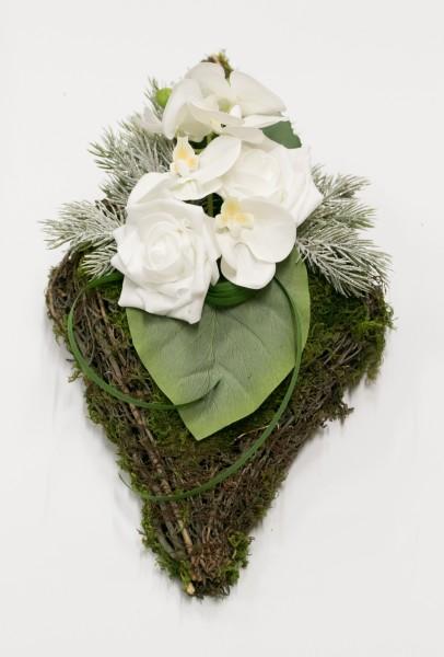 Grabgesteck mit Orchidee Trauergesteck Totensonntag, Allerheiligen bei HIKO-Dekoshop