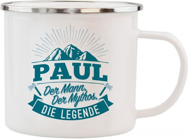 History & Heraldry Echte Kerle Becher Paul Emaille Becher Kaffeebecher Kaffeepott